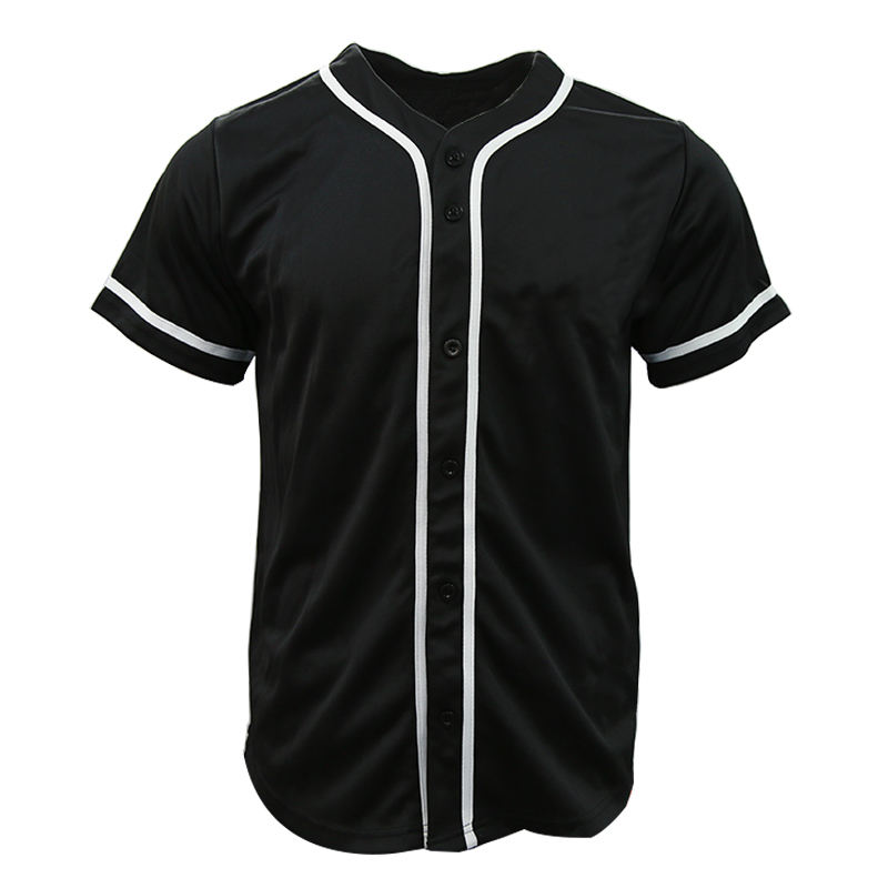 custom sublimated baseball uniforms button baseball jersey pattern