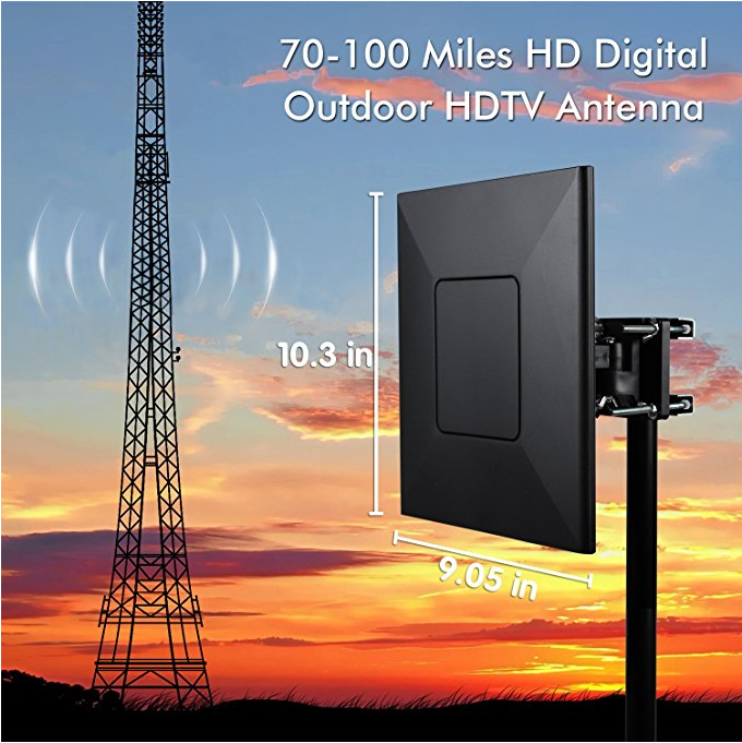 Factory best 120 miles hd antenna for tv outdoor with amplifier