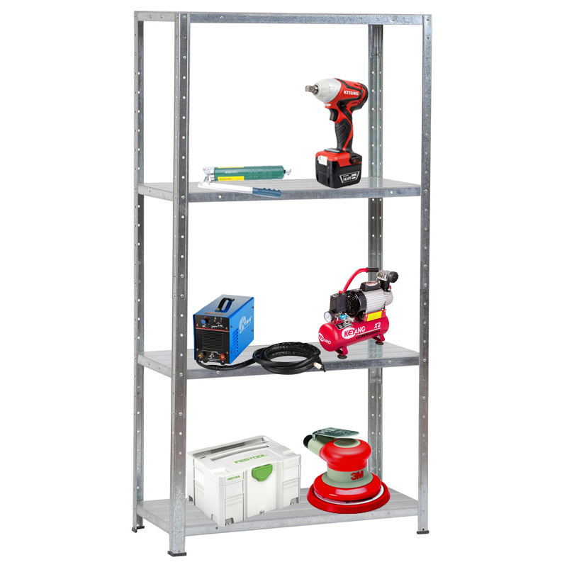 Powder Coated direct manufacturer tool standing metal shelving storage rack/high quality KD goods shelf