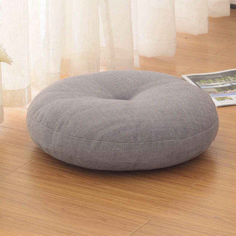 wholesale organic linen cotton dropshipping japanese papasan floor zafu yoga chair round meditation seat pillow cushion