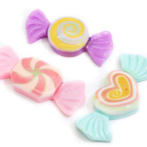New Product Ideas 2019 Spiral Mint Kawaii Cabochons Hearts Candy Embellishments Sprinkles Sweets Slime Charms Pink Green Purple