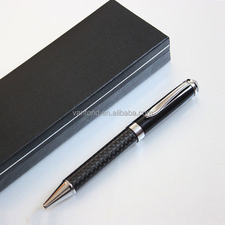 Logo Black Metal Pens Luxury Ballpoint Promotional,Luxury Business Carbon Fiber Pen Set Gift