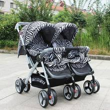 Kids Trailer With Seat Parts/Parents Can Push Behind Stroller/Baby Can Sit Pram for Twins