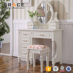 Z907 wall mounted venetian mirrored glass dressing table designs