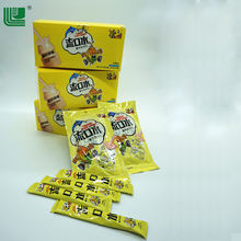 Chinese supplier chocolate dried fruit milk candy strip