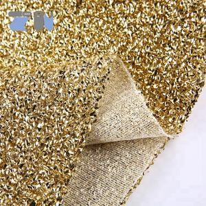 sponge lurex knit metallic fabric for Christmas decoration
