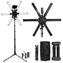 FOSOTO TL-900S plus 3200-5600K Photographic lighting Star Light Lamp led Ring Light with tripod for Camera Phone Video