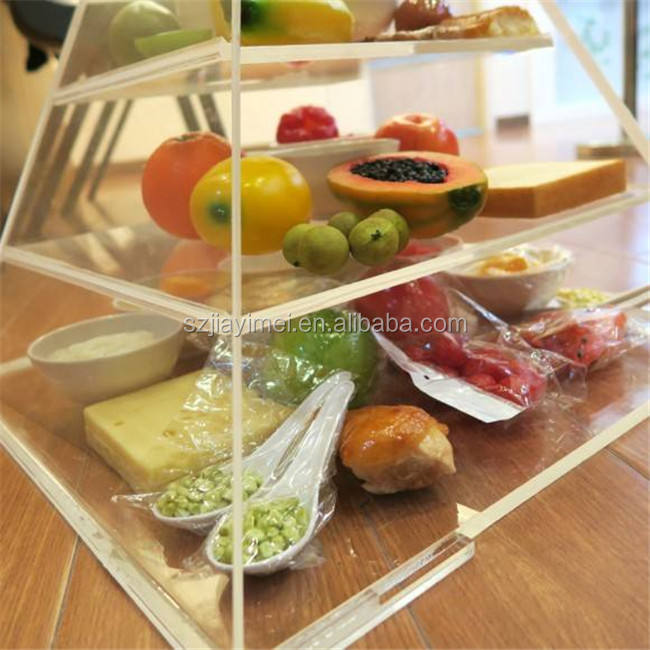 High quality acrylic pyramid box for food