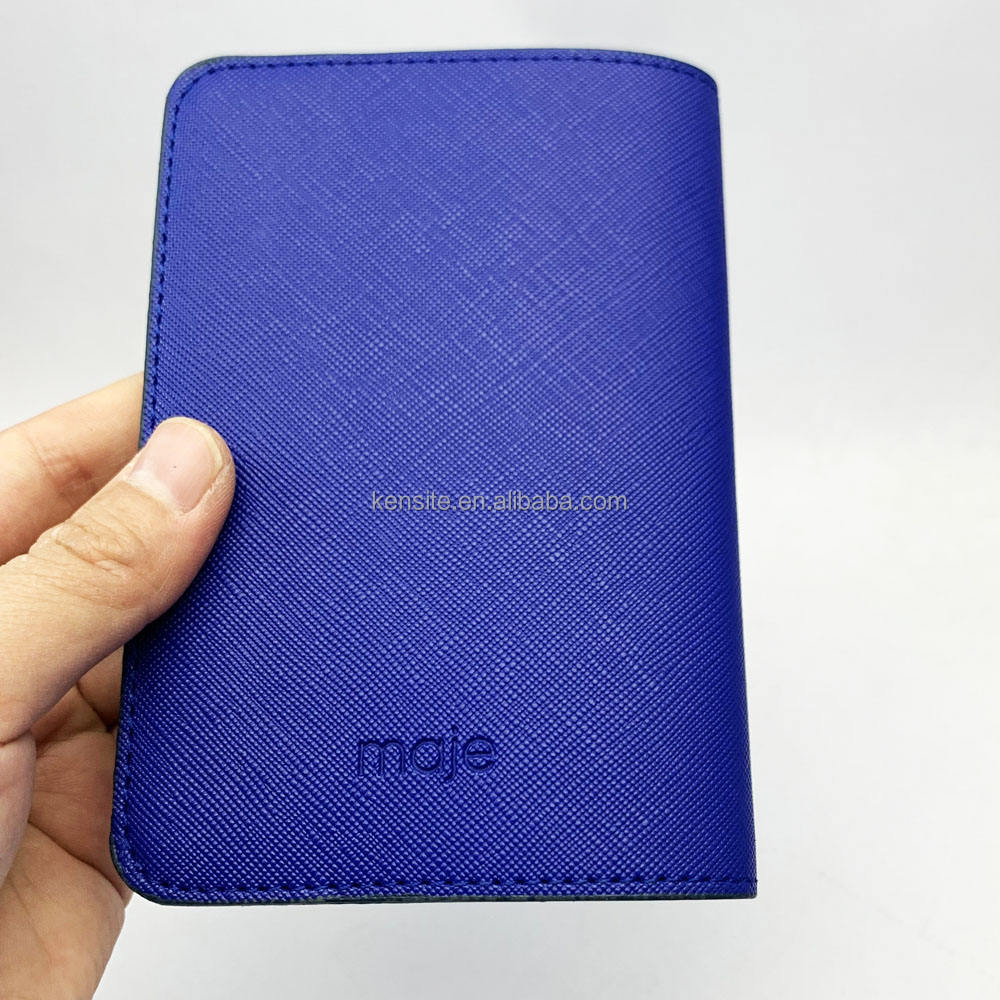 2019 fashion personalized pu leather passport case