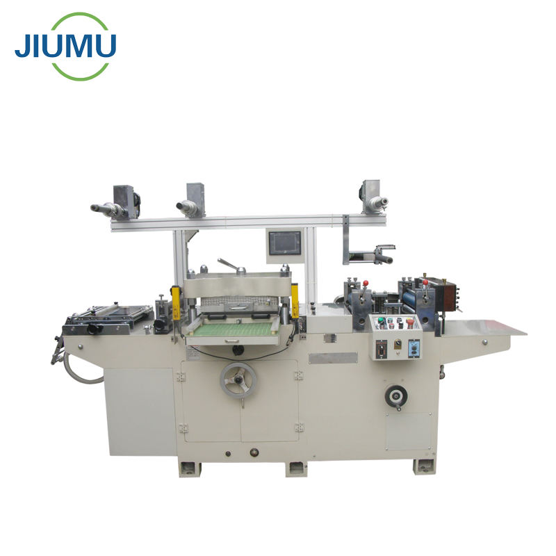 Automatic feeding die cutting machine with rewinding function