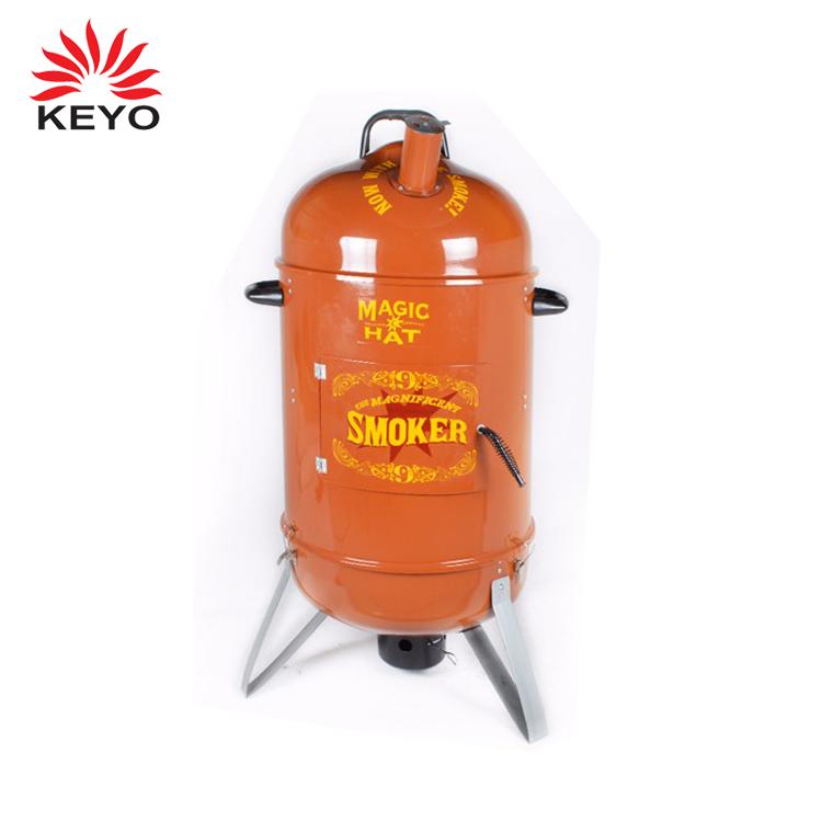 """KEYO LFGB outdoor 18 """"verticale 2 in 1 di lusso del carbone di legna fumatore barbecue grill con camino"""