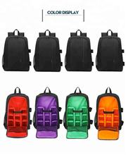 Coloful Waterproof Multi-functional Digital DSLR Camera Video Bag Small DSLR   Camera Backpack for Photographer