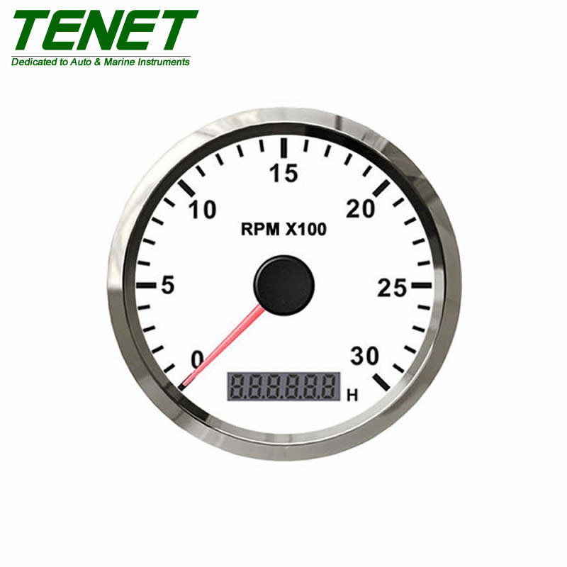 waterproof IP67 tachometer RPM meter for marine, tachometer waterproof racing 85mm