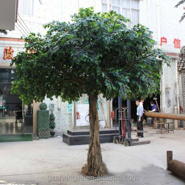 LXY072117 hot sale product 2014 fake ornamental foliage plants decorative artificial ficus banyan tree