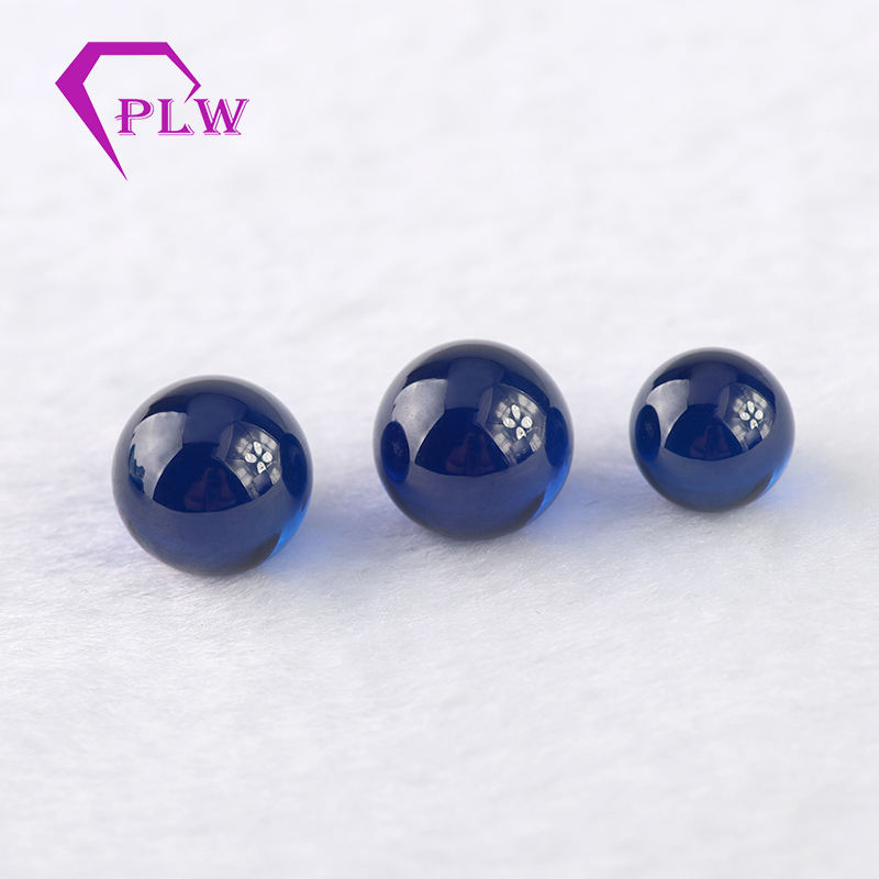 synthetic corundum blue sapphire ball 3mm 5mm 6mm in stock