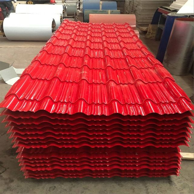aluminium roofing sheet size corrugated solar panel roof tiles