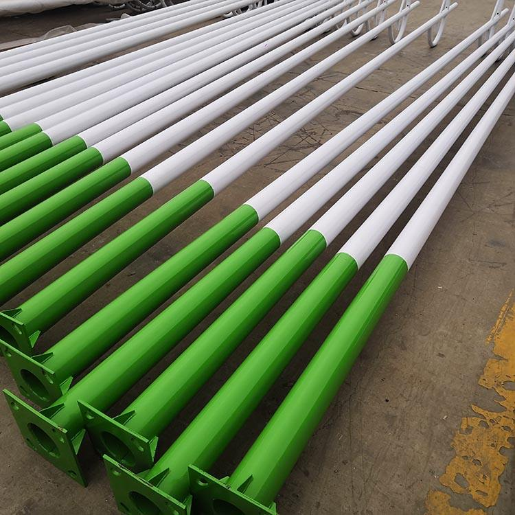 Serviceable galvanized high mast flood stadium lighting poles for sale