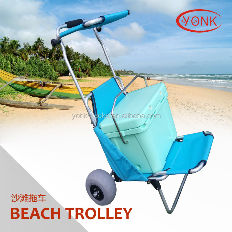 Rust Corrosion Resistant Aluminum Folding Fishing Beach trolley cart hand cart for kids