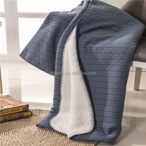 New Design Free Sample 100% Sherpa Wool Blankets On Sale