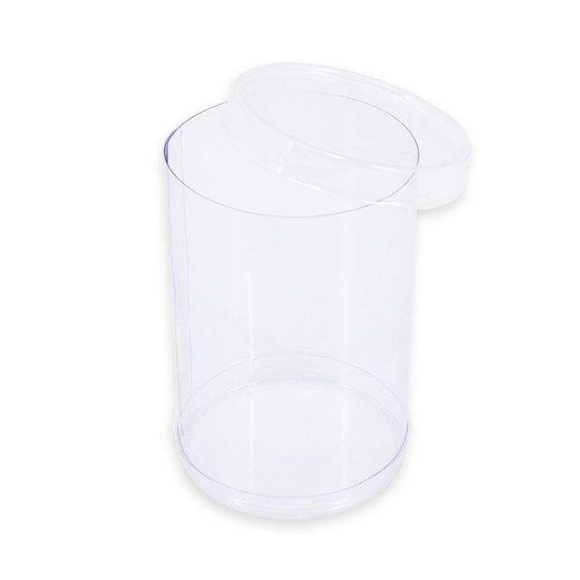 Custom clear pvc/ pet display plastic cylinder gift boxes round tube packaging for toy