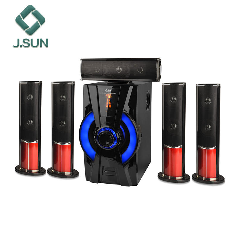 Sistem home theater speaker Hi-fi multimedia audio yang aktif 5.1