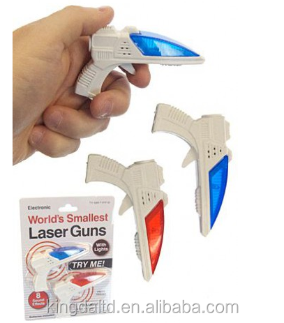 World's Smallest Laser Guns Laser Light Blasters 8 sound Effects