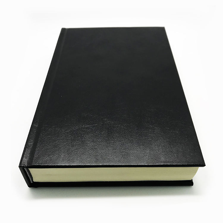 Custom full color sewing binding leather hardcover books printing