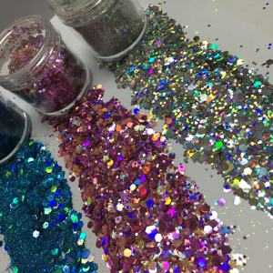 wholesale PET hexagon cosmetic body decoration glitter chunky