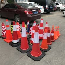 2019 hot sale high quality PE traffic cone 1M road safety cone with reflective tape used on the crossing of road ways CE cone