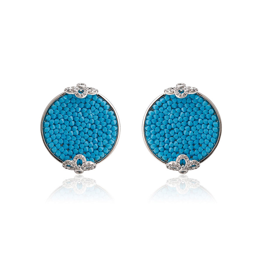 93893 Xuping hot sale newest arrival Crystals from Swarovski fancy bali jewelry earrings