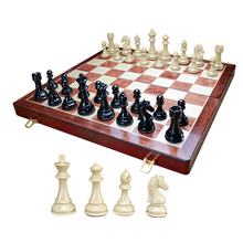 Metal Deluxe Wood Board Storage Chess Set