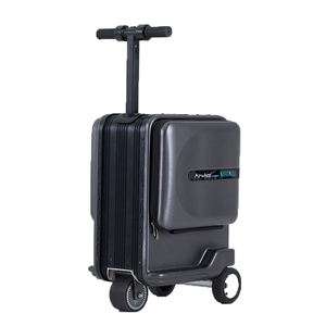 2019 Customized Mini size boarding allowed USB port luggage Smart riding suitcase Powerful motor smart luggage