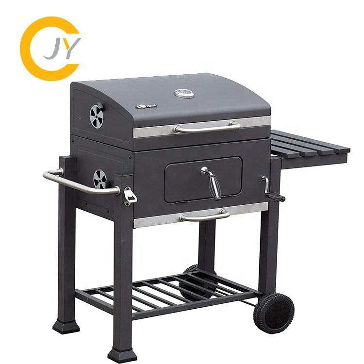 Charcoal Grill BBQ Smoker Grill Outdoor Barbecue Grill With Trolley