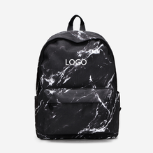 Traveling backpacks with marbling printed  for college students