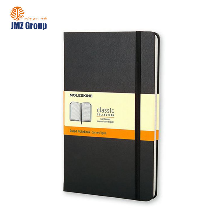 Quality custom Classic Notebook, Pocket, Ruled, Black, Hard Cover notebook