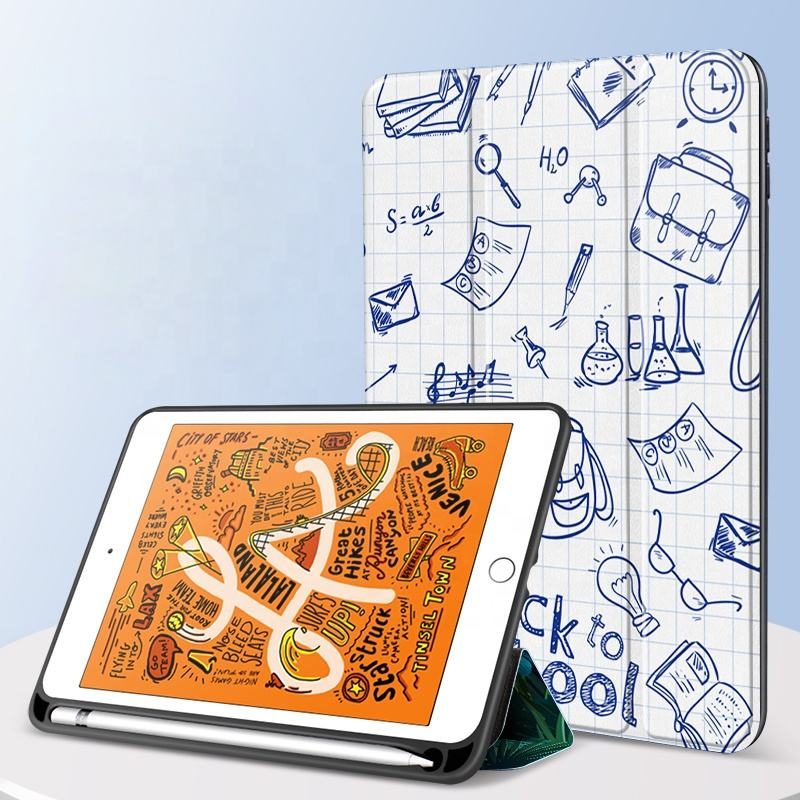 Premium flip case met pen/potlood houder canvas lederen 10.5 inch tablet case cover voor ipad