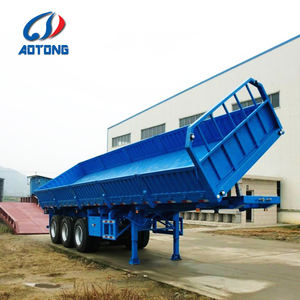Tri-Axle 40FT Side Tipper Dump Semi Trailer for Sale