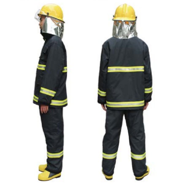 Green Yellow Firefighting Safety Suit Fire Fighting Clothes Jackets With Pants