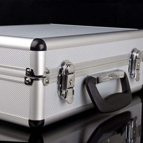 Large hard aluminum flight carry case foam tool lockable key camera storage box