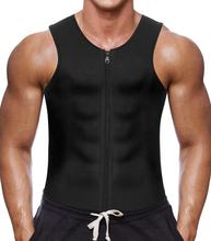 Men Hot Sweat Neoprene Body Shaper Waist Trainer Tank Top suit Sauna Vest for Workout Weight loss Gym With Zipper