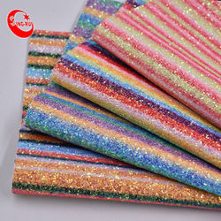 Shining rainbow style  grits glitter fabric for women shoes