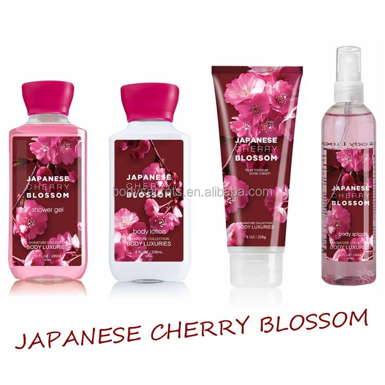 Japanese cherry blossom fragrance body wash bottle shower gel