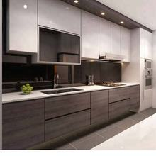 European Style Laminate Frameless Modular Color Combinations Lacquer Kitchen Cabinet