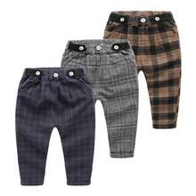 Kid Boy Custom Printed Plaid Balloon Pants From Child Apparel Manufacturer