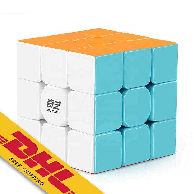 Qiyi Warrior W 3x3 Speed Cube Stickerless 3x3x3 Magic Cube Puzzles Toys Easy Turning and Durable Toys for Kids