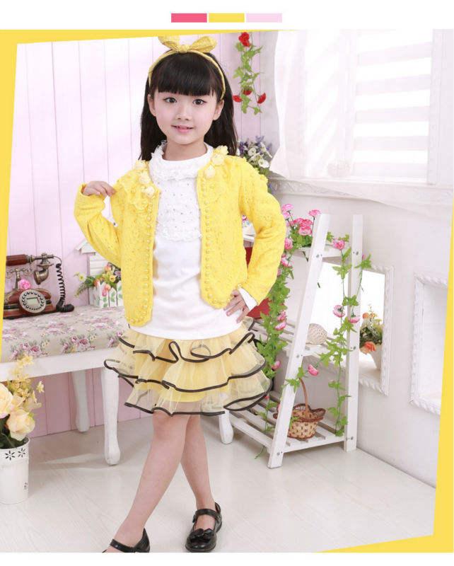 2014 más niñas vestidos de <span class=keywords><strong>moda</strong></span> 10 años 3 pcs set