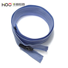 #7 blue teeth camlock invisible nylon open end zipper