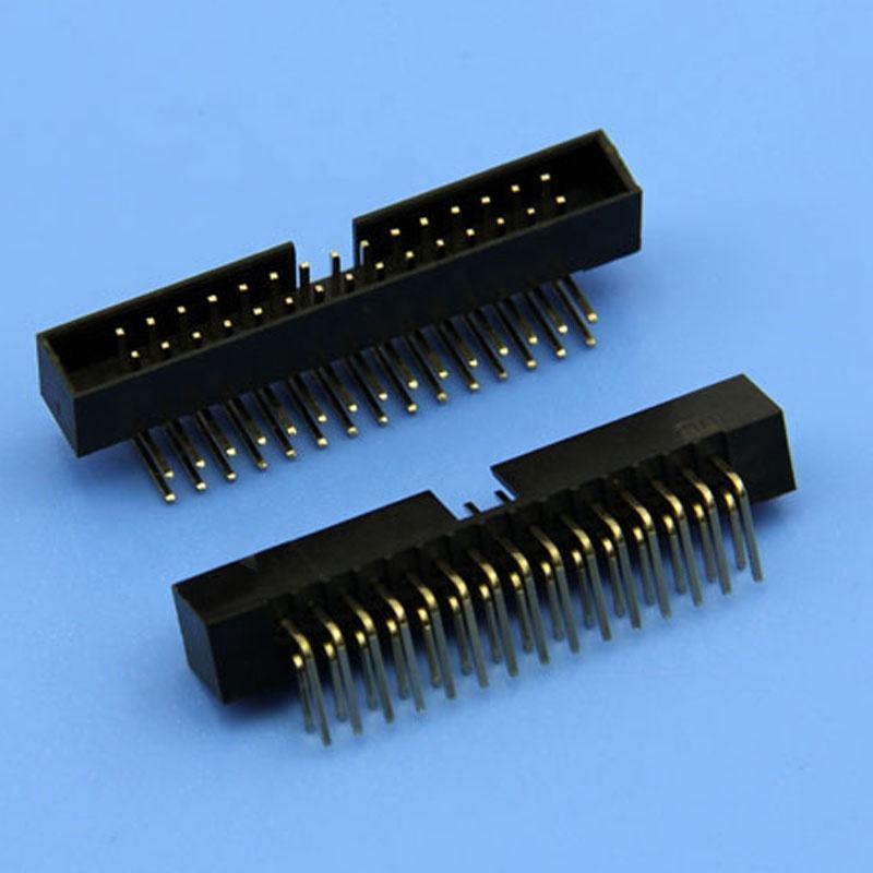 Polig Header right 1x Streifen männliche pin doppel 2x40 Winkel 90 gebogen