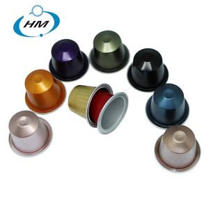 Aluminum nespresso coffee capsules compatible for nespresso capsule machine from Chinese manufactory