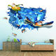 Home Decor 3D Turtle Wall Sticker Mural Decals Vinyl Living Room Decor
